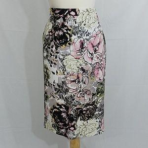 Stretch skirt, pink, 1x-2x